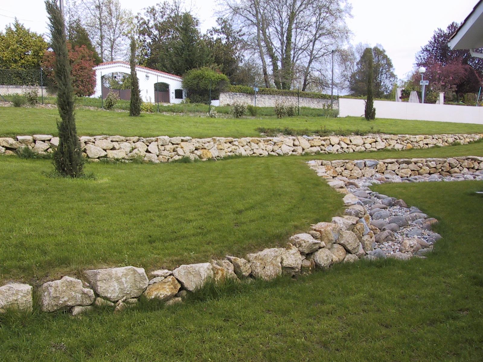 Puyau Paysages Gironde mur pierre