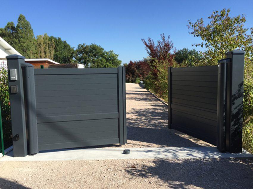 Puyau Paysages-portail ouvrant-Gradignan