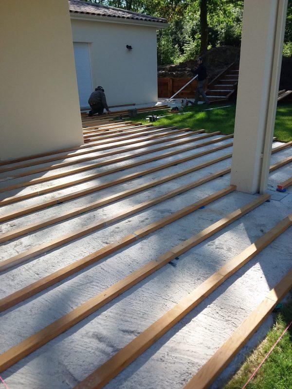 Structure terrasse bois