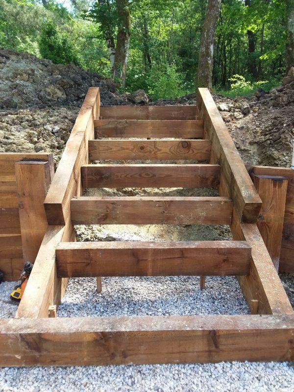 Escalier en cours de réalisation